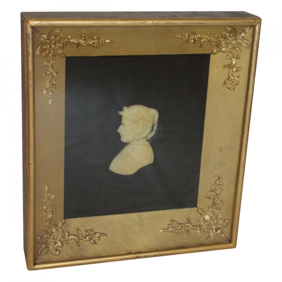 Antique Wax Relief in Shadow Box Frame