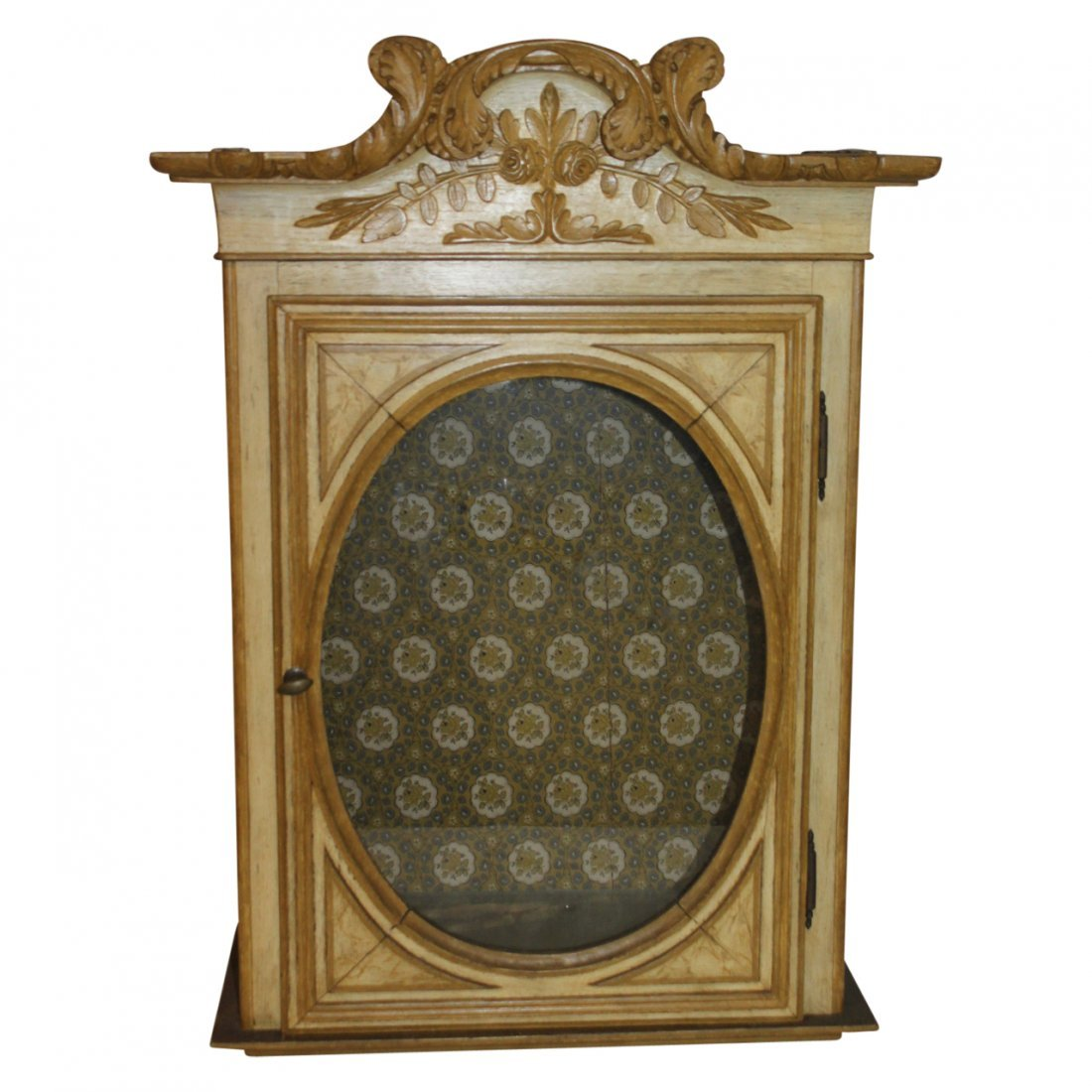 French Antique Hanging Shelf Cabinet