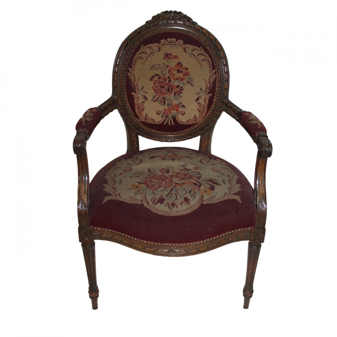 French Arm Chair with Tapestry Seat