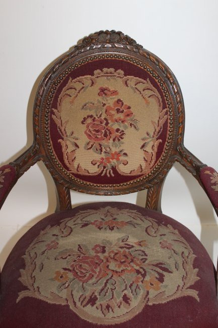 French Arm Chair with Tapestry Seat - 2