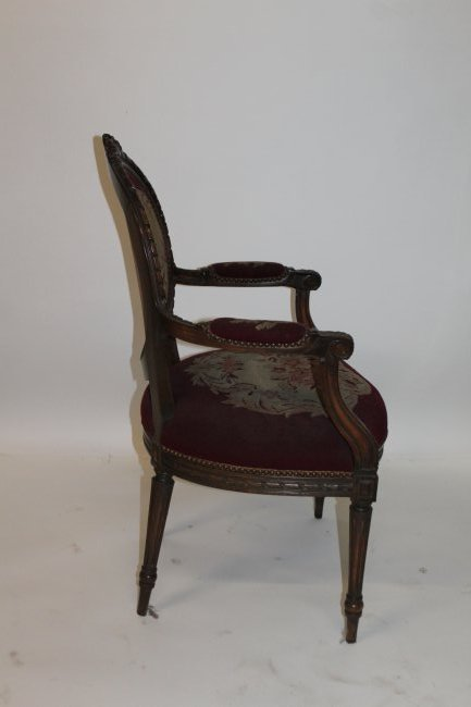 French Arm Chair with Tapestry Seat - 3
