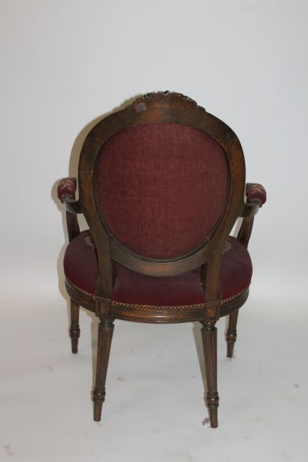 French Arm Chair with Tapestry Seat - 4