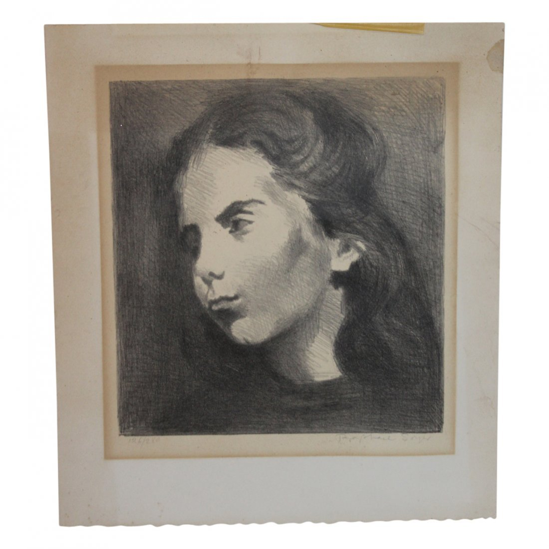 Raphael Soyer Lithograph Signed