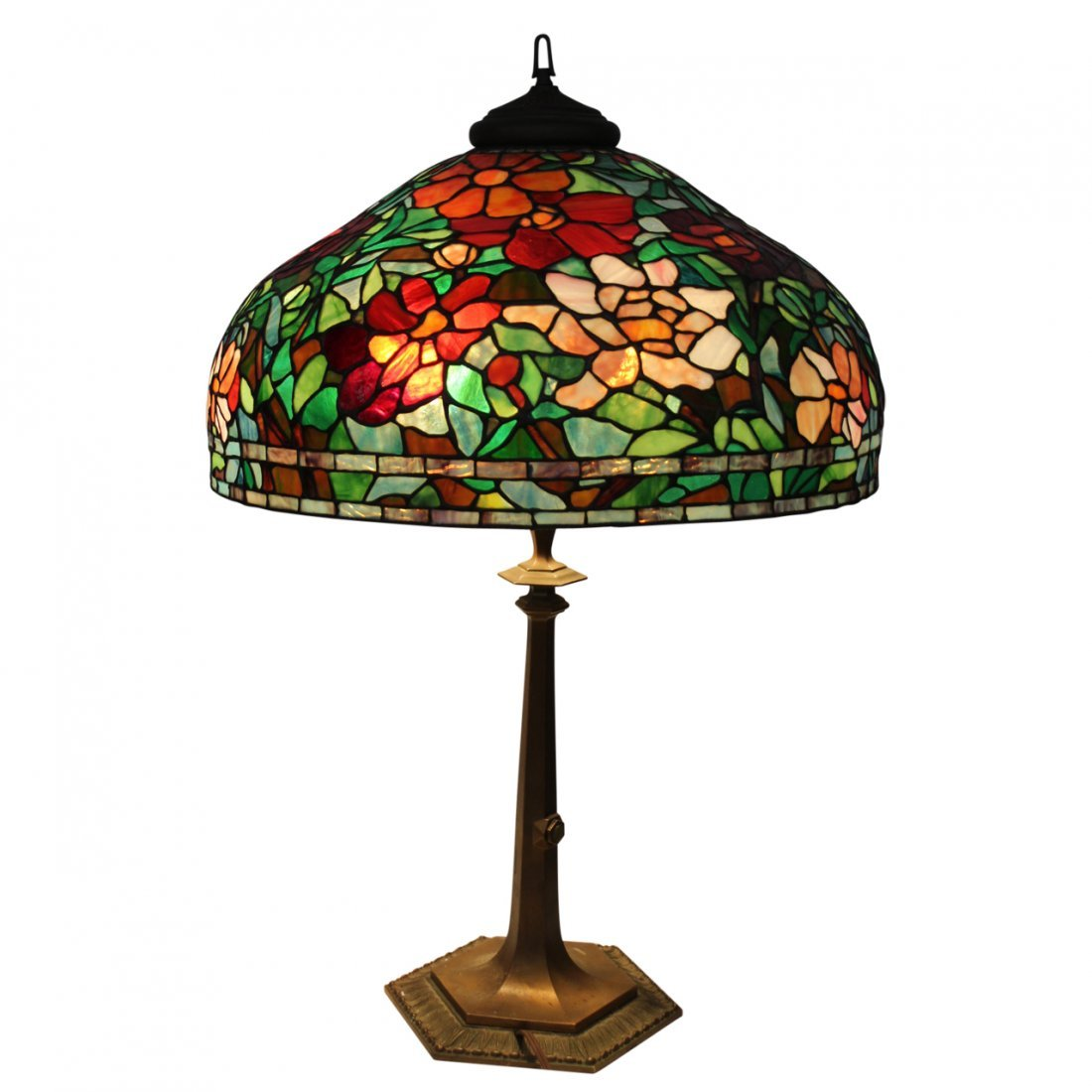 Vintage Tiffany Style Large Table Lamp