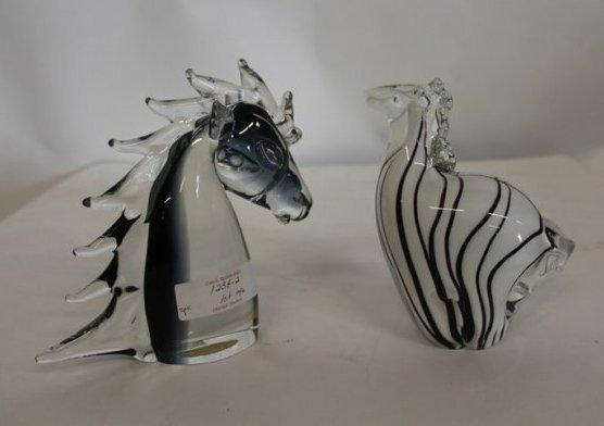 2 Murano Animals Horse and Zebra - 3