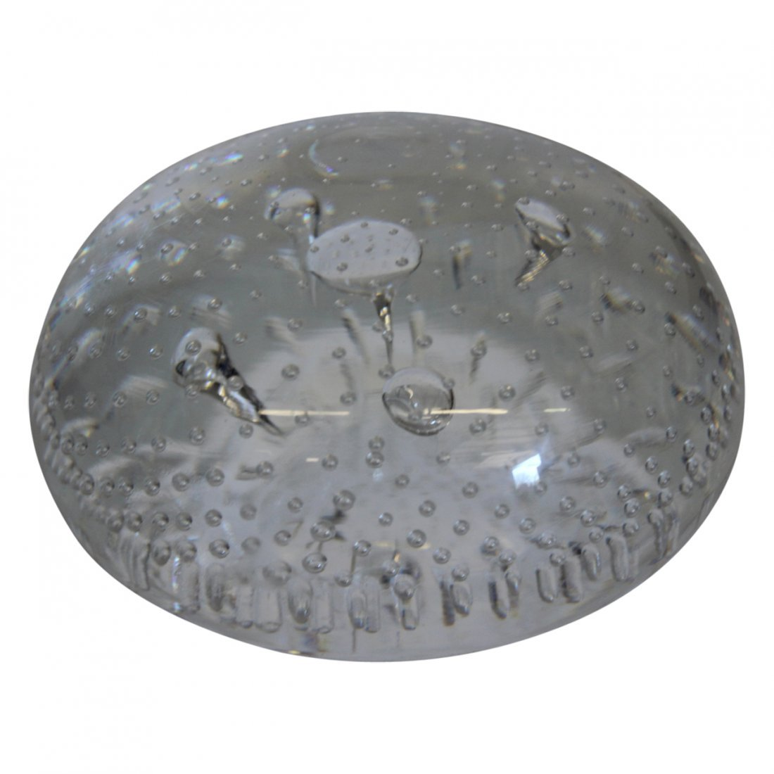 Steuben Art Bubble Glass Object
