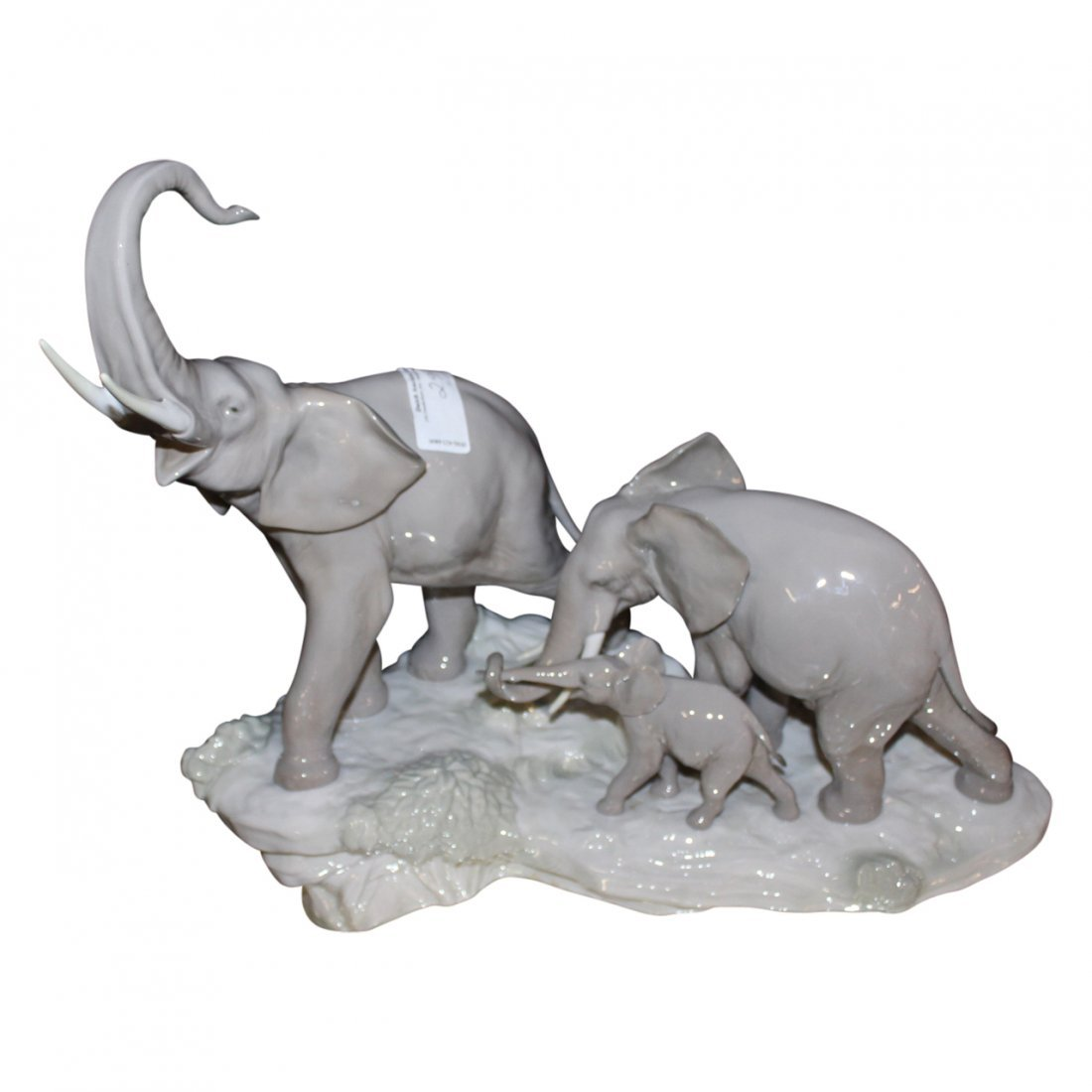 Lladro Porcelain Elephant Group