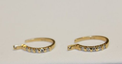 Diamond and Gold Hoop Earrings
