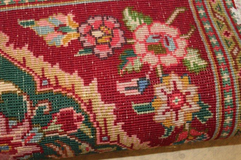 Small Persian Rug with Bird Motif - 2