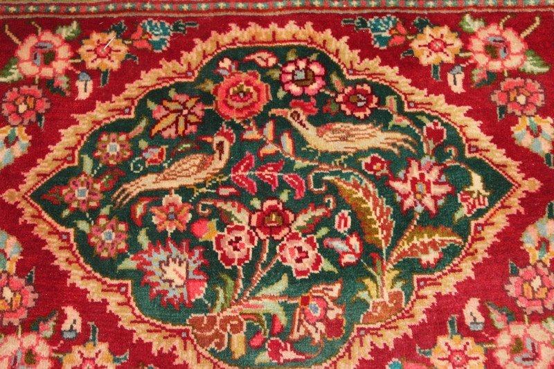 Small Persian Rug with Bird Motif - 3