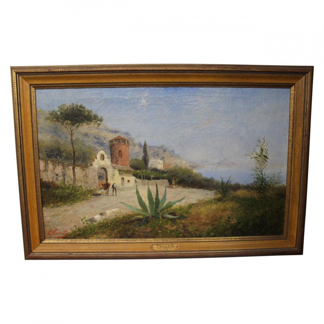 Antique Oil Painting By Vasati