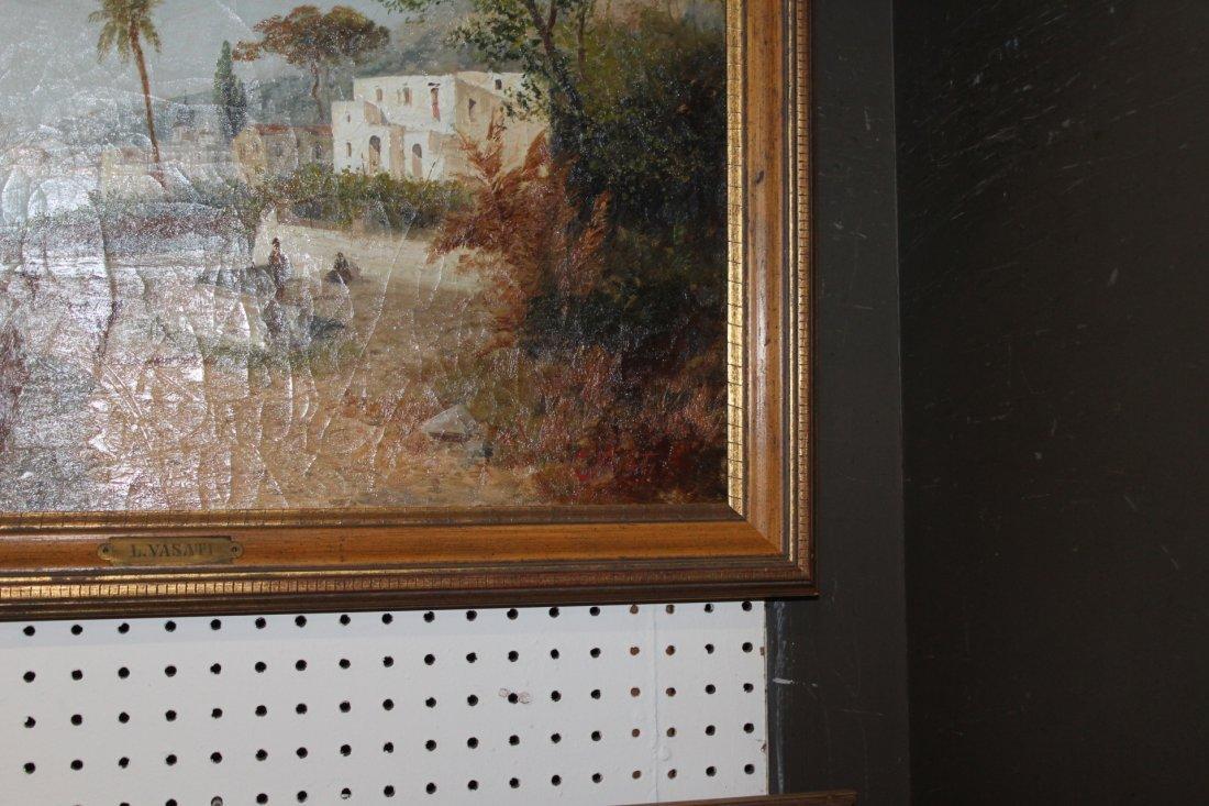 Antique Oil Painting By Vasati - 2