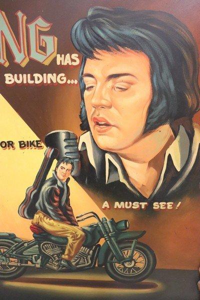 Large Vintage Painting of Elvis Hollywood Regency - 2