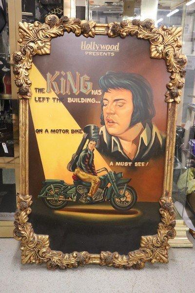 Large Vintage Painting of Elvis Hollywood Regency - 3