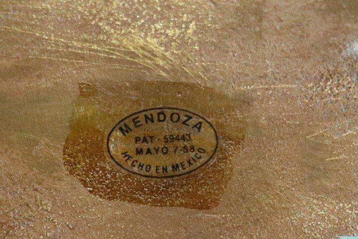 Pair Mid Century Gilt Enamel Seahorses Mendoza - 3