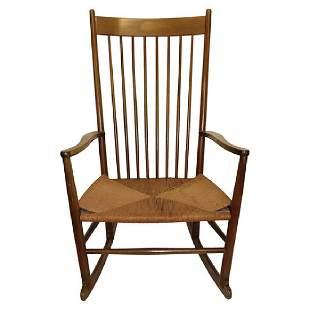Hans Wegner Style Rocking Chair Signed