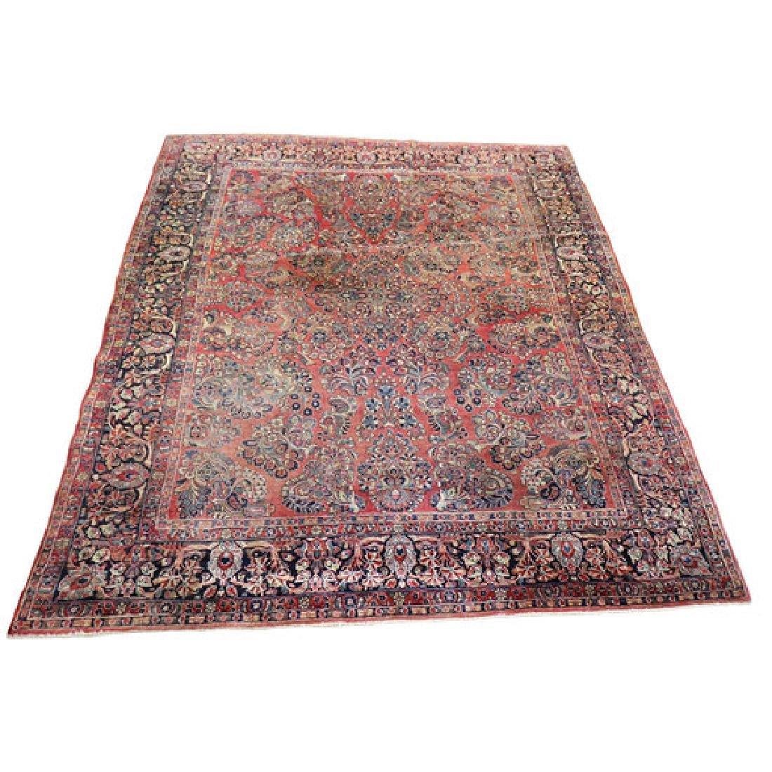 Antique Persian Sarouk Mohajeran Rug