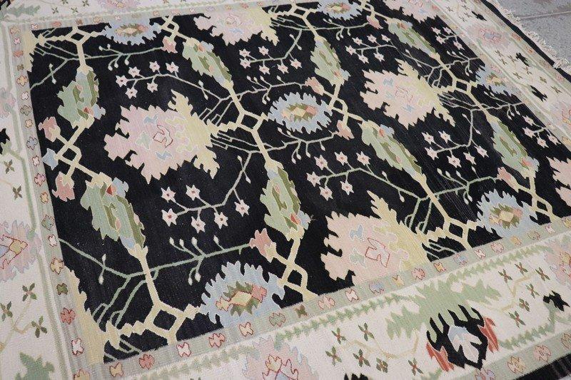 20th Century Handwoven Kilim Carpet Rug - 3