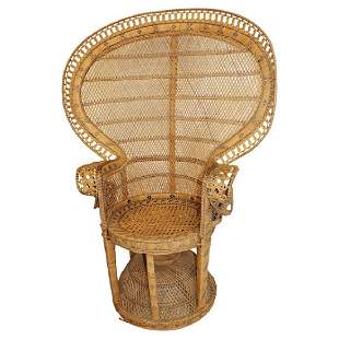 Mid Century Rattan Peacock Chair
