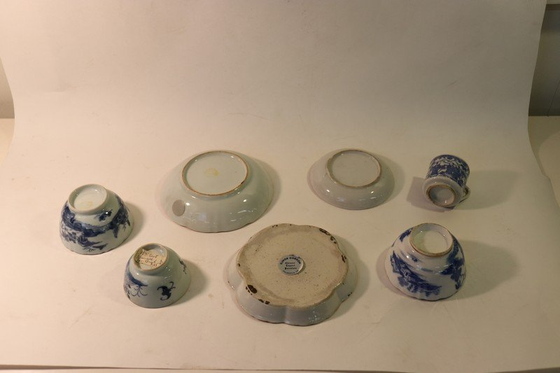 7 Pcs Chinese Export Blue & White Porcelain - 2