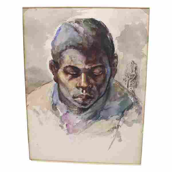 Dox Thrash Watercolor of a Black Youth