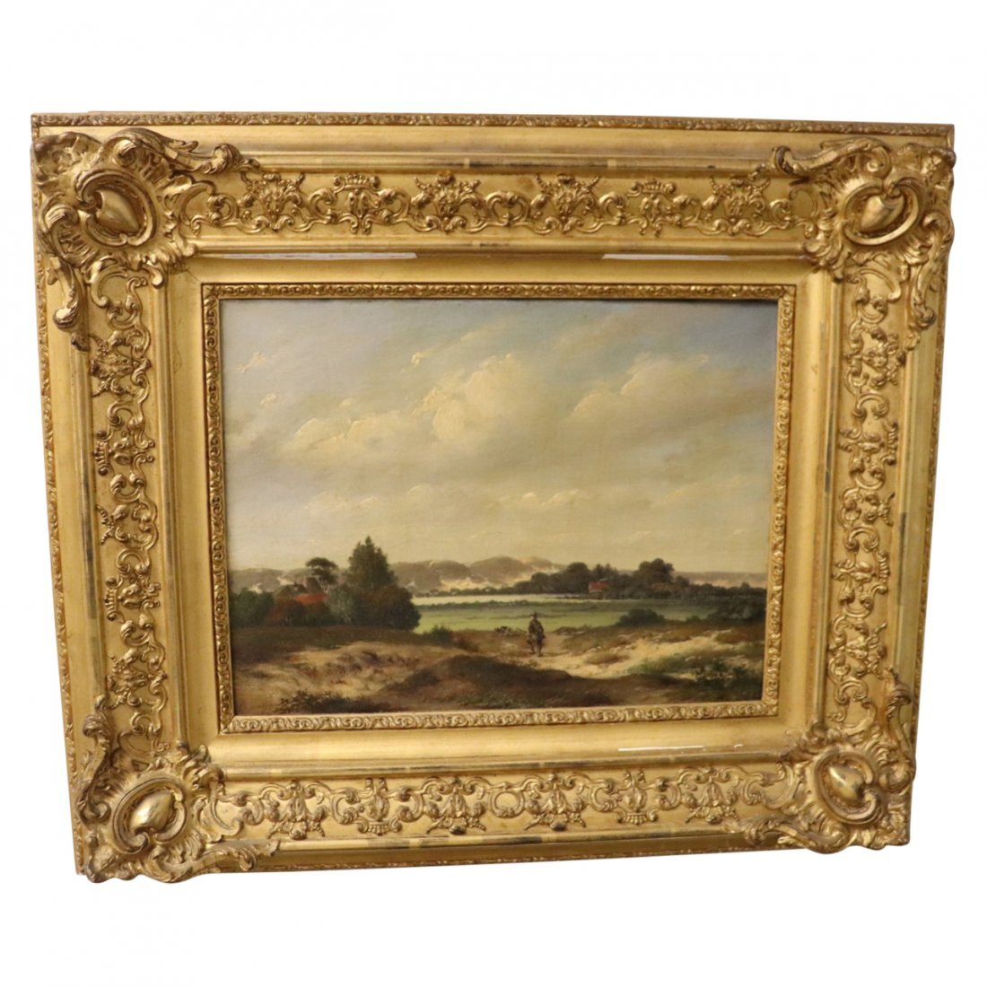 Fine Antique Oil Painting on Canvas