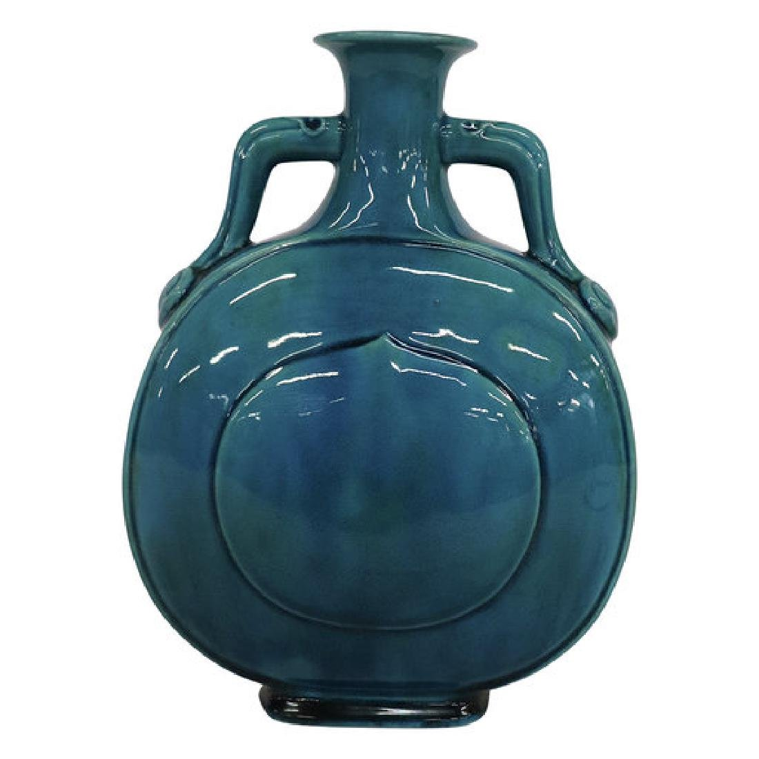 Fine Antique Chinese Turquoise Moon Flask
