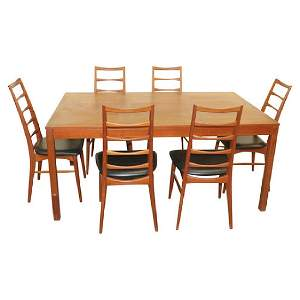 MCM DANISH DINING ROOM TABLE BY VEJLE.  DENMARK.