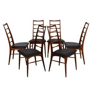 SET OF 6 DANISH MODERN CHAIRS BY KOEFOEDS HORNSLET