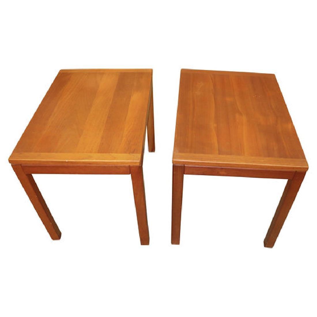 2 MCM END TABLES SIGNED VEJLE MADE IN DENMARK