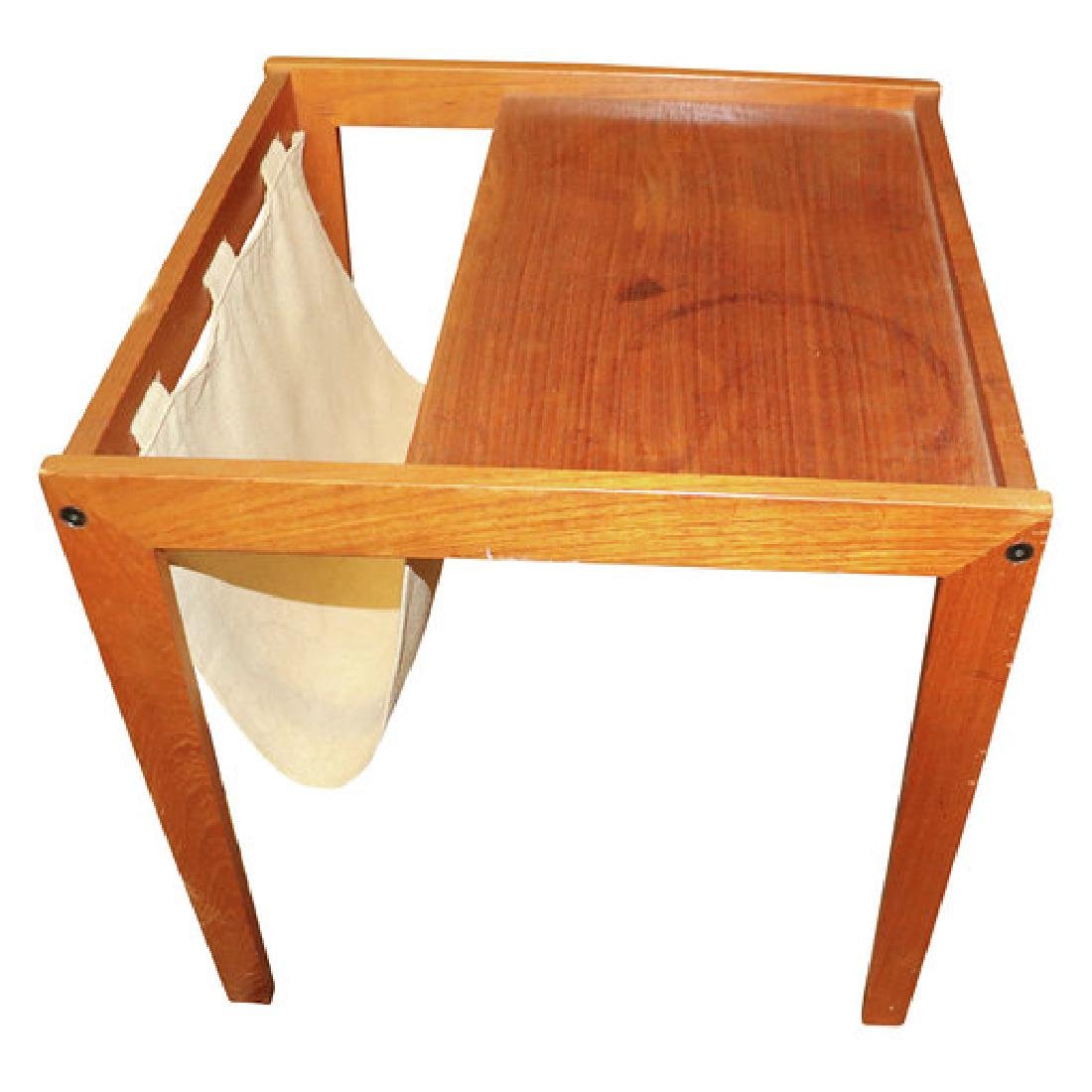 MCM CANVAS MAGAZINE TABLE RACK BY BENT SILBERGS