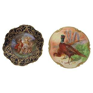 PAIR OF HAND PAINTED ARTIST SIGNED PLATES