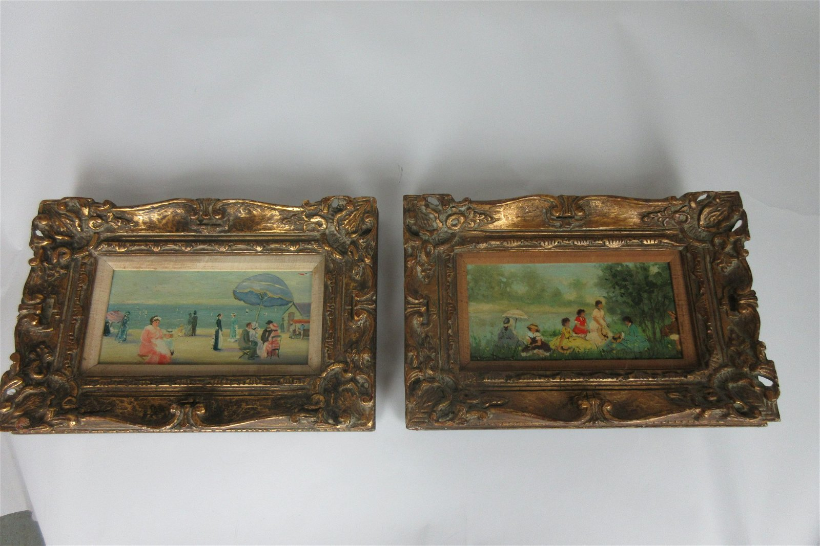Two Signed French Oil Paintings Susan Demarst