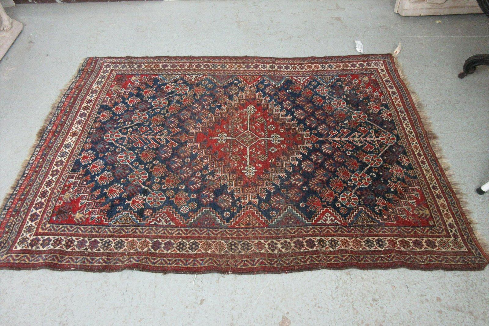 Fine Antique Russian Shirvan Carpet Rug