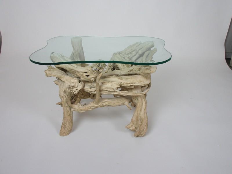Driftwood Teak End Table