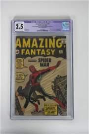 Amazing Fantasy (1962) 15 CGC 2.5 Qualified