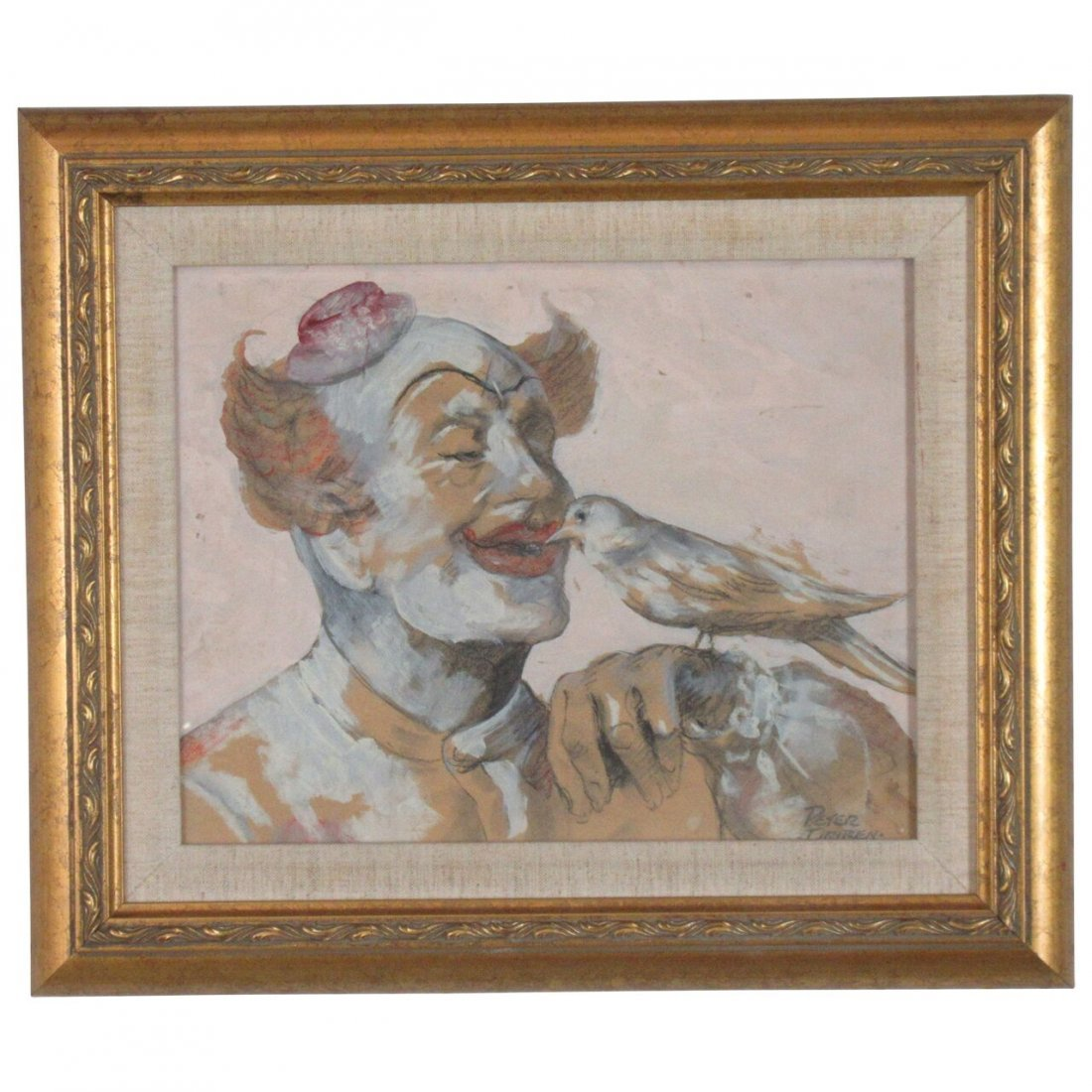 Painting of a Clown by Peter Driben
