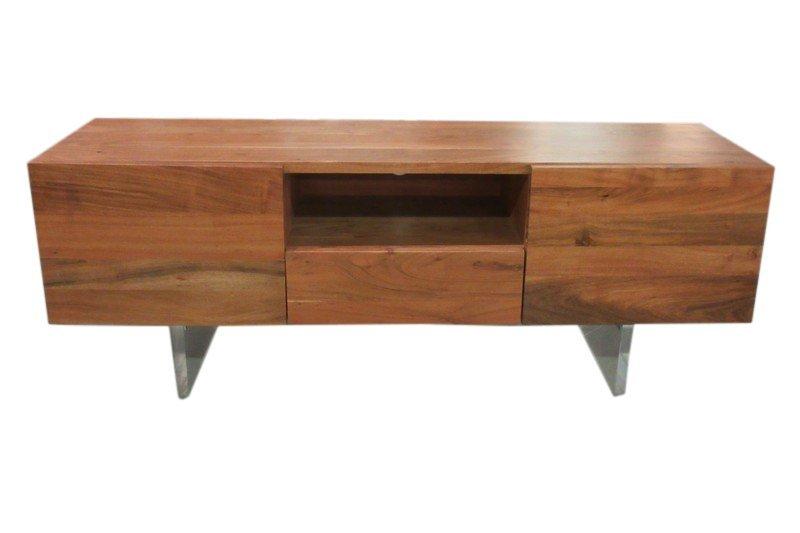 Superb MCM Style Acacia Wood Bureau