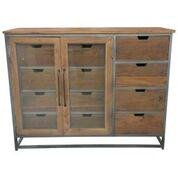 Fine modern style cabinet with two glass doors and