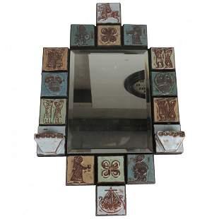 Modern Vintage Tile Mirror