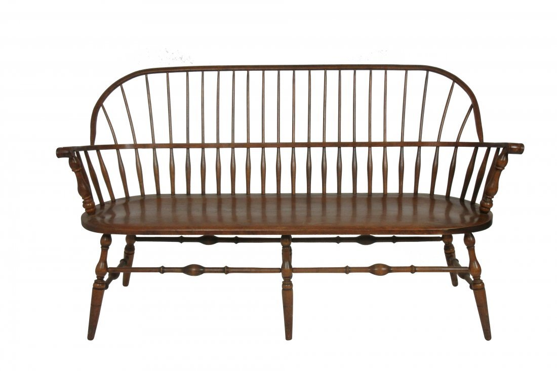 Fine Vintage Windsor Bench