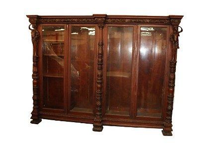 RJ Horner Massive Victorian Carved Bookcase