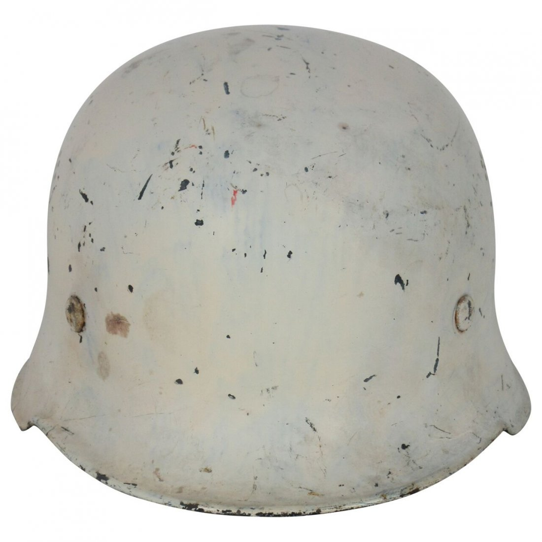 White painted Nazi helmet