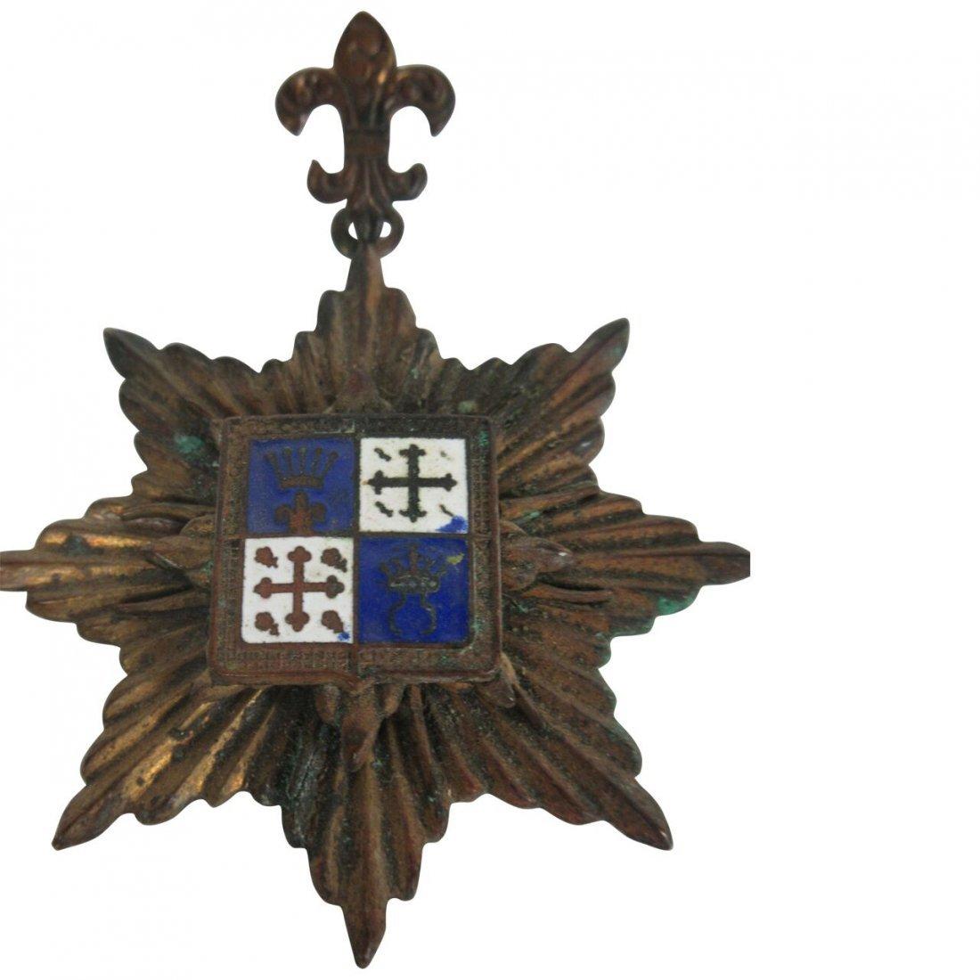 French Fleur De Lis French Medal