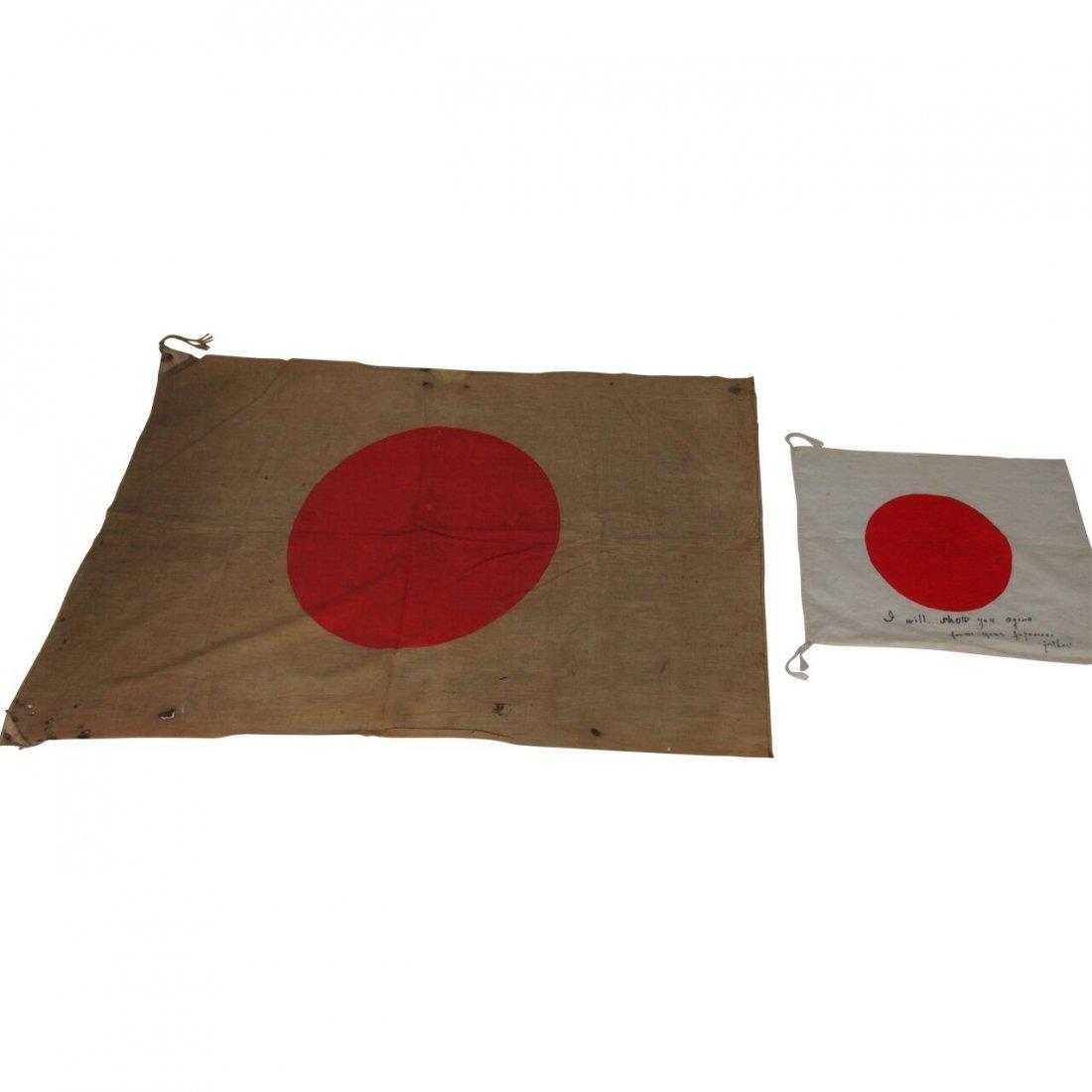 2 Japanese WW2 Flags