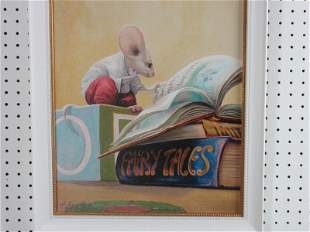 Leonard Figate Mouse Giclee Lithograph