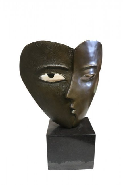 PICASSO LOVERS SIGNED BRONZE