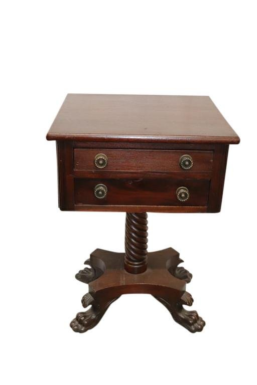 EMPIRE TWO DRAWER DROPLEAF NIGHT STAND