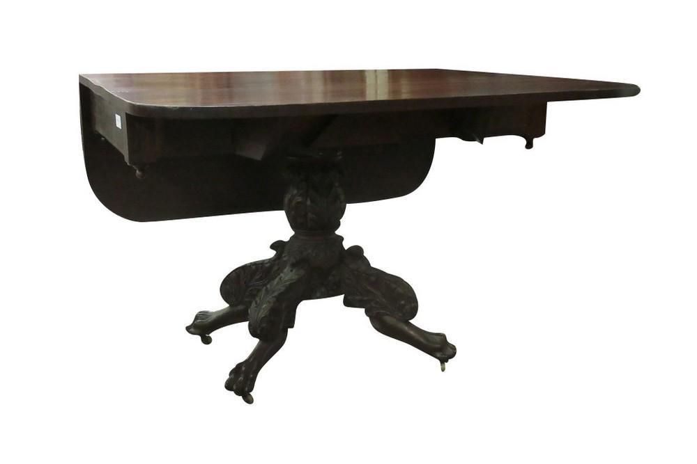 EMPIRE PEDESTAL DROP LEAF TABLE