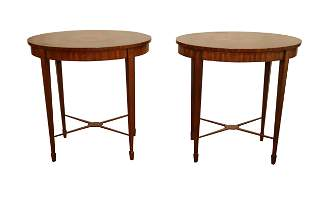 PAIR OF FINE MAITLAND SMITH INLAID END TABLES